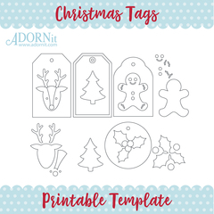 Christmas Tags - Printable Template Instant Digital Download