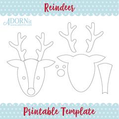 Reindeer - Printable Template Instant Digital Download