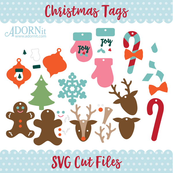 Christmas Tags - Instant Digital Download SVG File