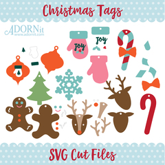 Christmas Tags - Instant Digital Download SVG File