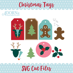 Christmas Gift Tags - Instant Digital Download SVG File