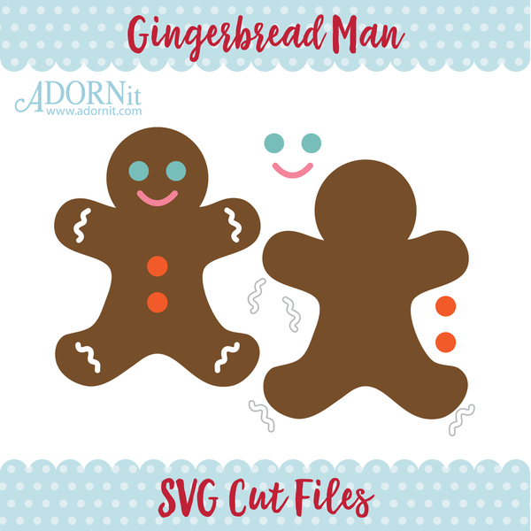 Gingerbread Man - Instant Digital Download SVG File