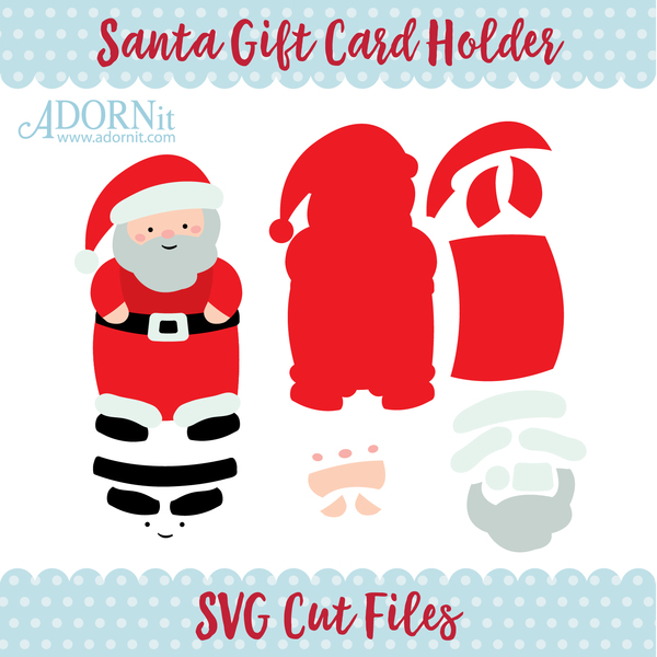 Santa Gift Card Holder - Instant Digital Download SVG File