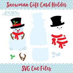 Snowman Gift Card Holder - Instant Digital Download SVG File