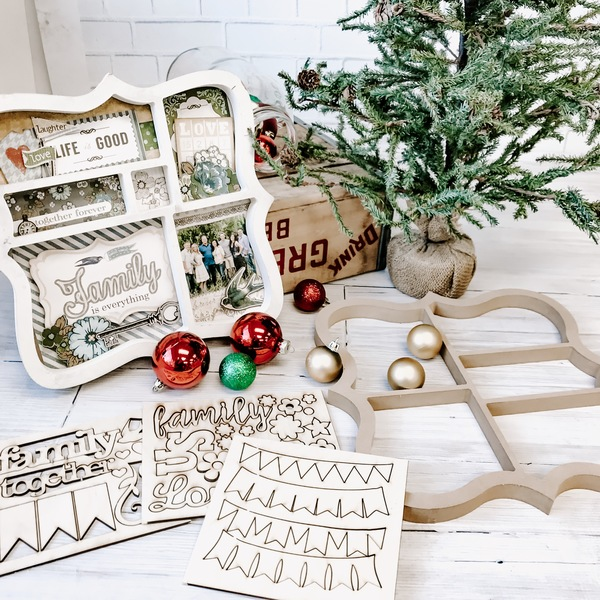 Bracket Shadow Box + wood embellishment sets