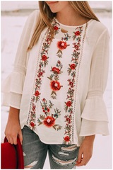 Saige Bell Sleeve Blouse