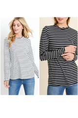 Mabel Stripe Long Sleeve Top