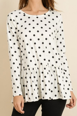 Double Dot Peplum