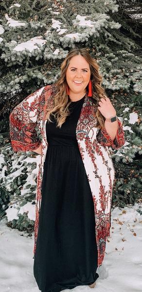 Portia Printed Maxi Kimono