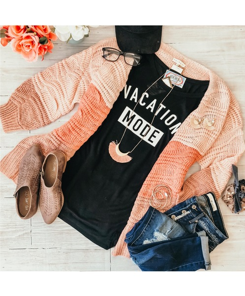 Pink Ombre Knit Cardi
