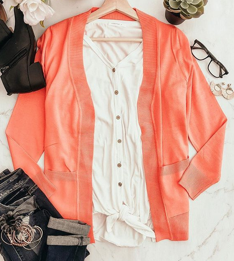 Coral Crush Spring Outfit Combo