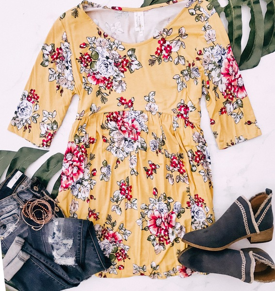 PLUS Adalyn Floral Peplum