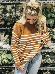 Laced Stripe Pullover