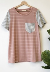 Duo Stripe Tee