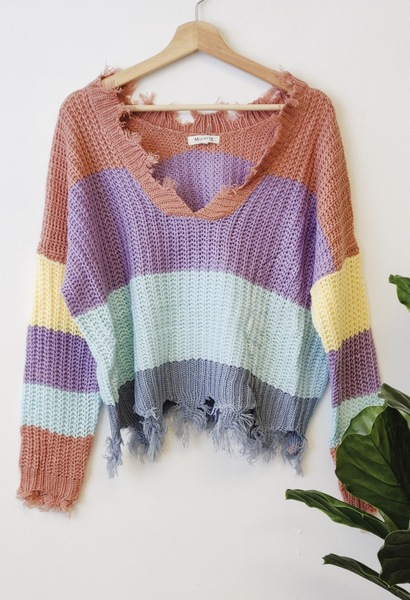 Colorblock Recked Pullover