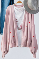 Mini Hearts Cardigan