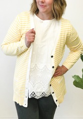 Yellow Sammi Stripe Cardigan