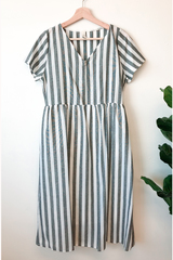Harper Striped Midi Dress