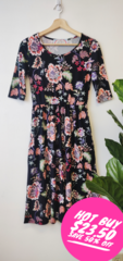 Jade Floral Midi Dress