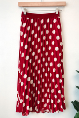 Minnie Polka Pleated Skirt
