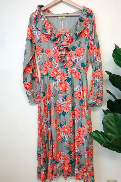 Demi Floral Ruffle Dress