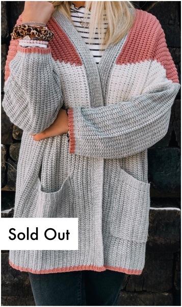 Emma Colorblock Knit Cardi
