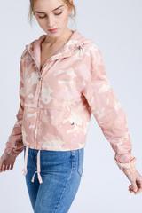 Pink Camo Windbreaker