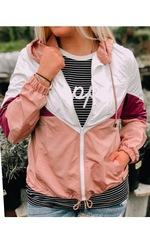 Petal Pink Windbreaker