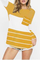 Mustard Roslyn Colorblock Top