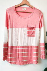 Blush Roslyn Colorblock Top
