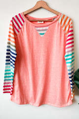 Betty Rainbow Sleeve Top