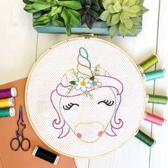 Unicorn Complete Stitch Kit