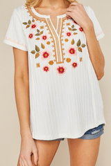 White Nina Embroider Top