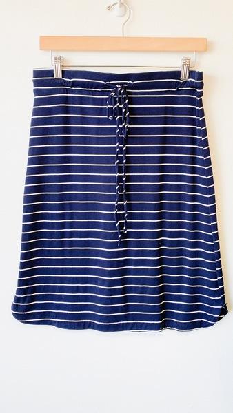 Navy Drawstring Skirt