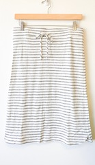 Grey Stripe Drawstring Skirt
