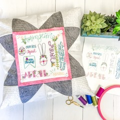 Monthly Wordplay Pillow Finishing Kit