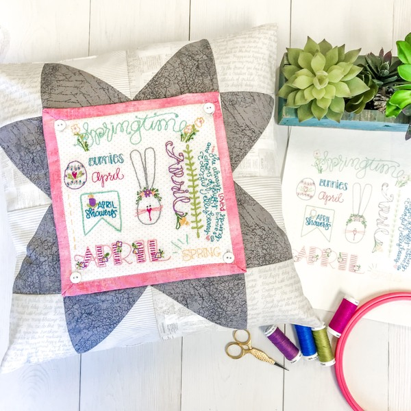 Monthly Word Play Stitch Club PATTERN SUBSCRIPTION