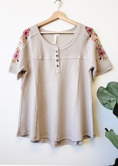 Taupe Clancee Embroider Top