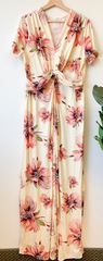 PLUS Ivory Floral Wrap Dress