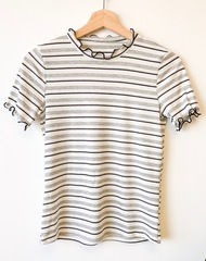 Stripe Astrid Ribbed Layer Top