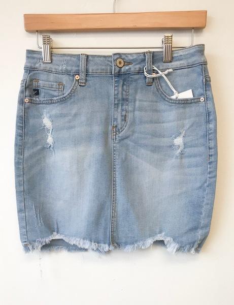 Light Wash Denim Skirt