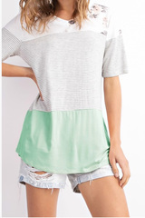 Mint Aurie Colorblock Top