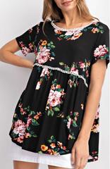 Black Breleigh Floral Babydoll