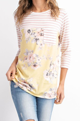 Yellow Adley Floral Tee