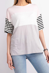 Blush Rayne Colorblock Top