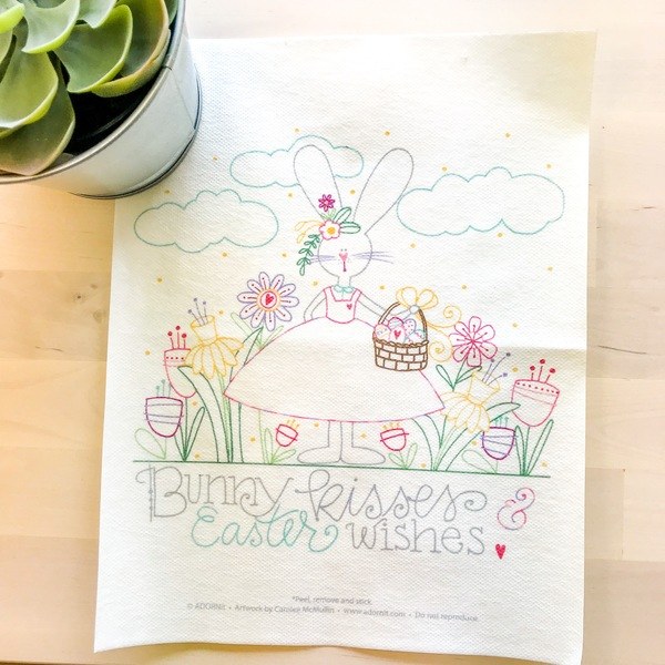 Easter Wishes Embroidery Pattern