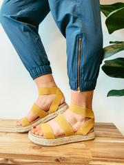 Mustard Platform Sandals