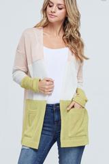 Lanie Colorblock Knit Cardi