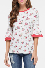 White Melody Floral Top
