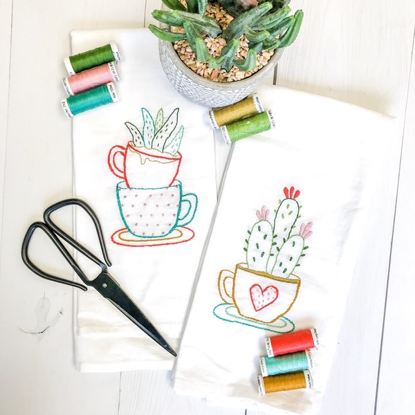 Tea Towel Set - Tea Cups